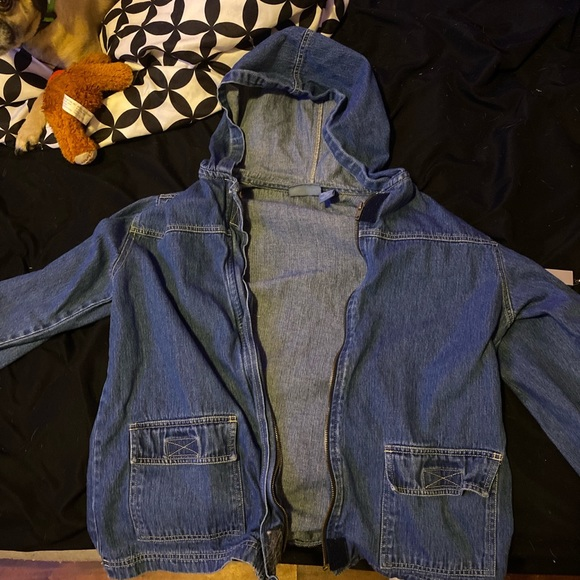 Tops - jean jacket. never worn. brand new condition!
